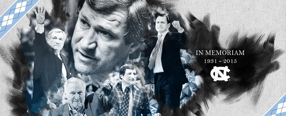 Collage of Dean Smith photos.
