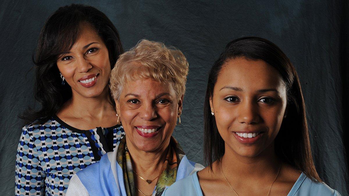 From left, Rhonda Hubbard Betty, Edith Hubbard, and Nicole Beatty