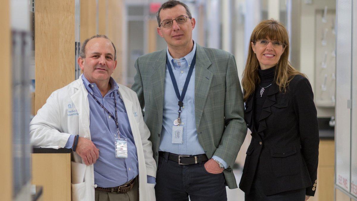 Drs. Jon Serody, Gianpietro Dotti and Barbara Savoldo