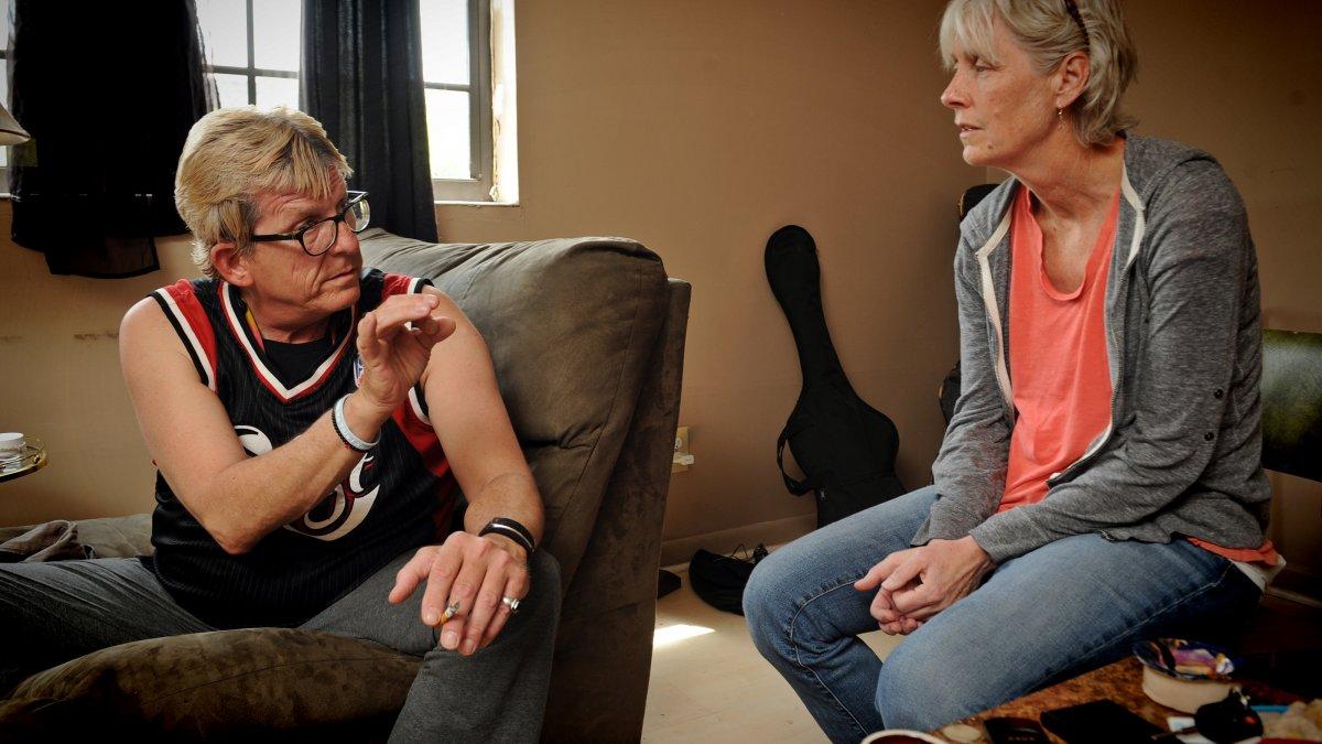 Carol Vanderzwaag talks with patient