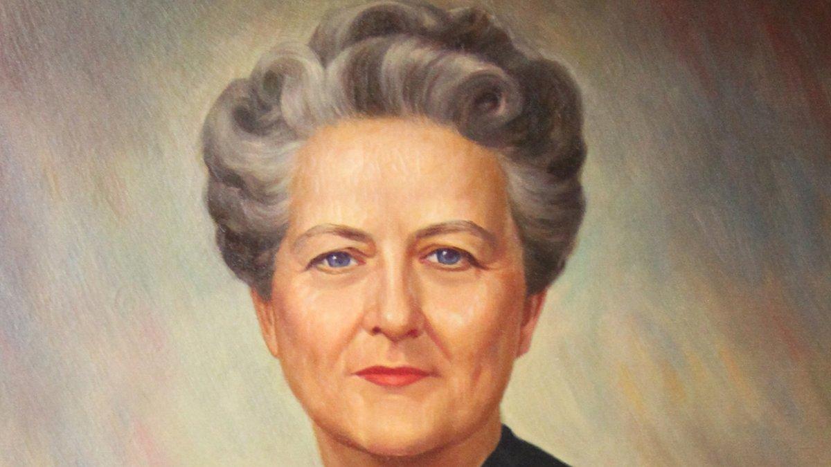 Painted portrait of Elizabeth Kemble.