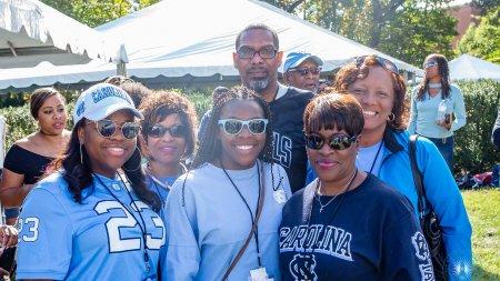 Carolina alumni pose at the 2017 Black Alumni Reunion.