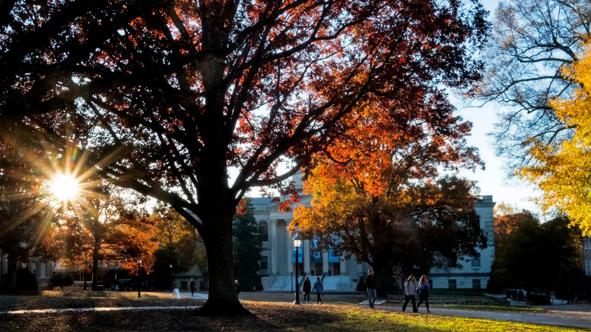 UNC-Chapel Hill campus in the fall.