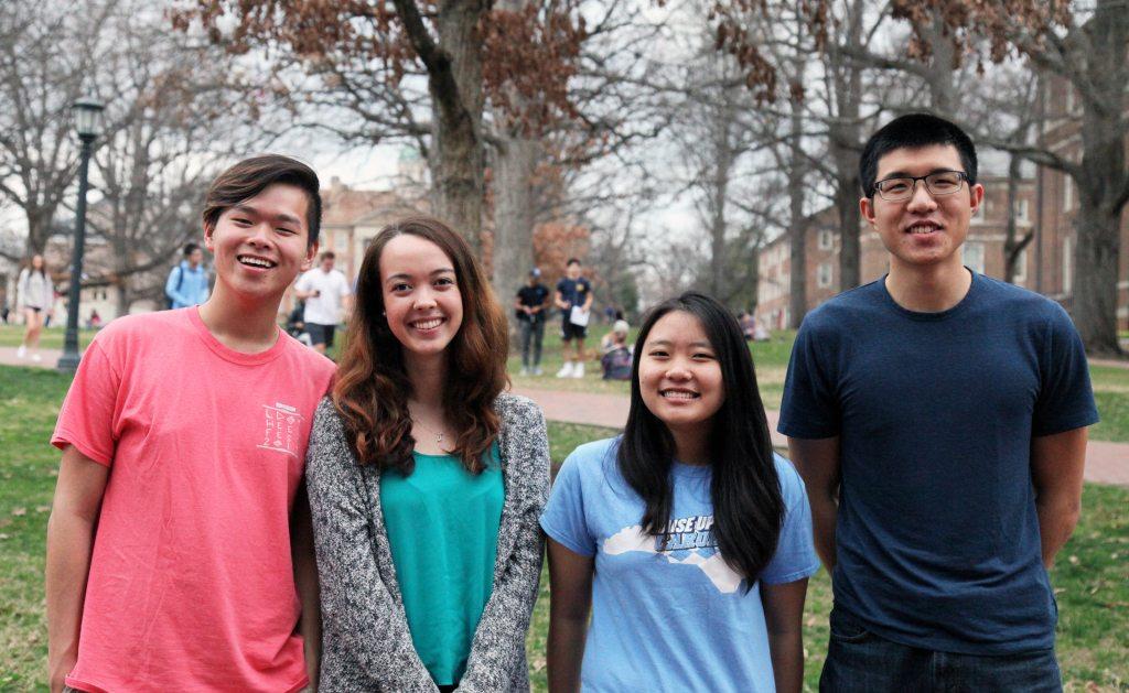 Jacky Zheng, Jessica Blanks, Alyssa Guo, and Jimmy Chin