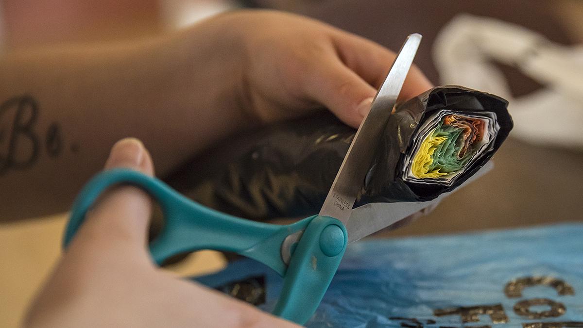 Plastic bag art | UNC-Chapel Hill