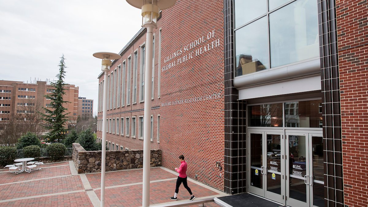 Exterior view of UNC Gillings School of Global Public Health o