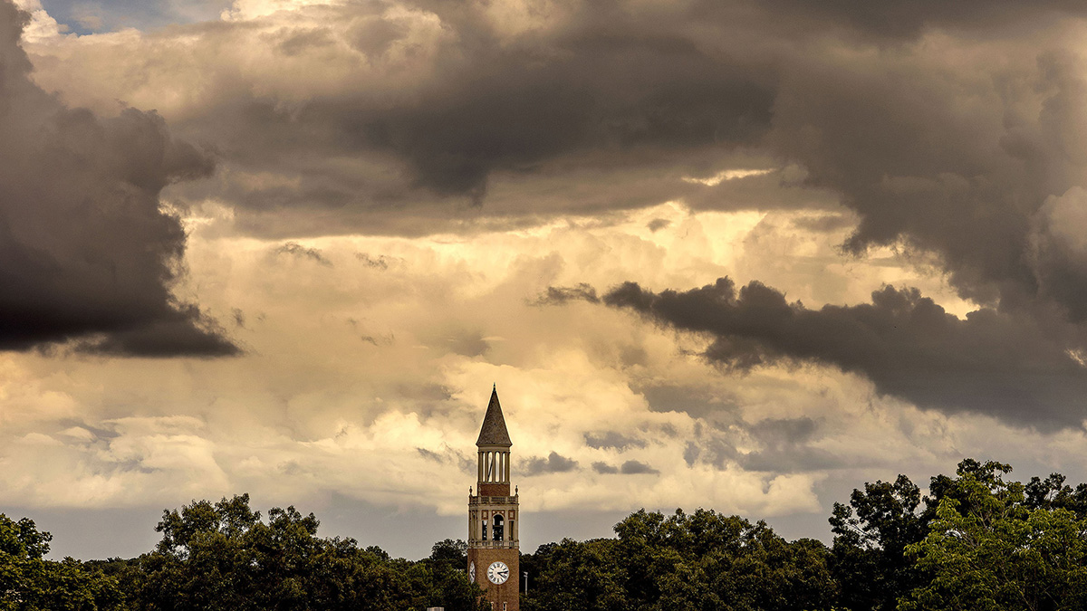 The Bell Tower on Carolina's campus.