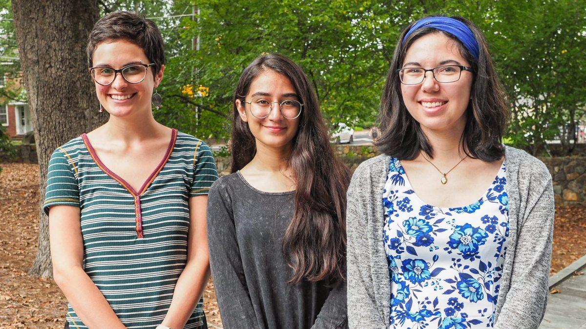 Maria Morava, Rawan Abbasi, and Rachel Matsumura