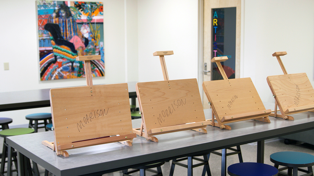 Studio with art easels