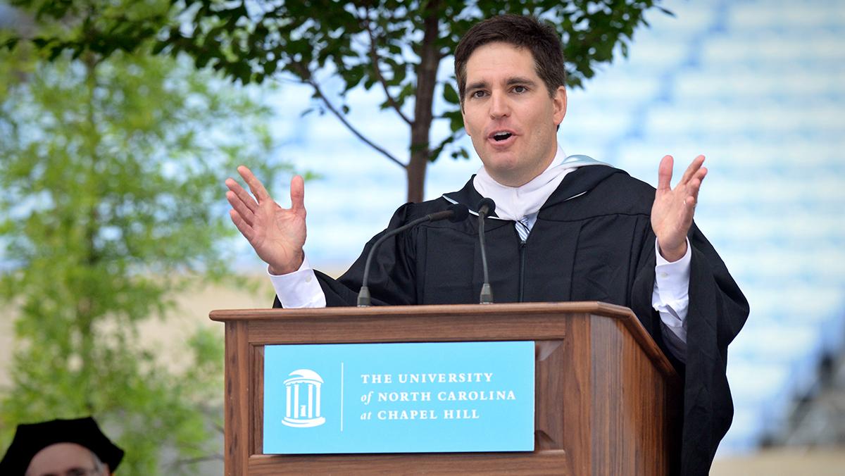 Jason Kilar speaks at commencement.