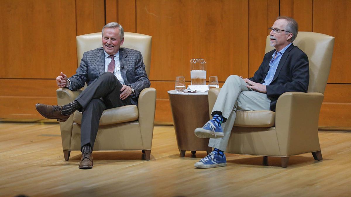 John Grisham and Daniel Wallace speak.