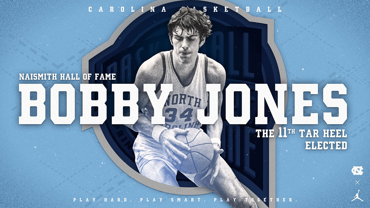 a5875d2139bc9f Bobby Jones  The 11th Tar Heel elected to the Naismith Hall of Fame.