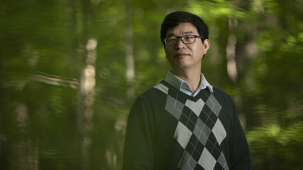 Conghe Song photographed in forest