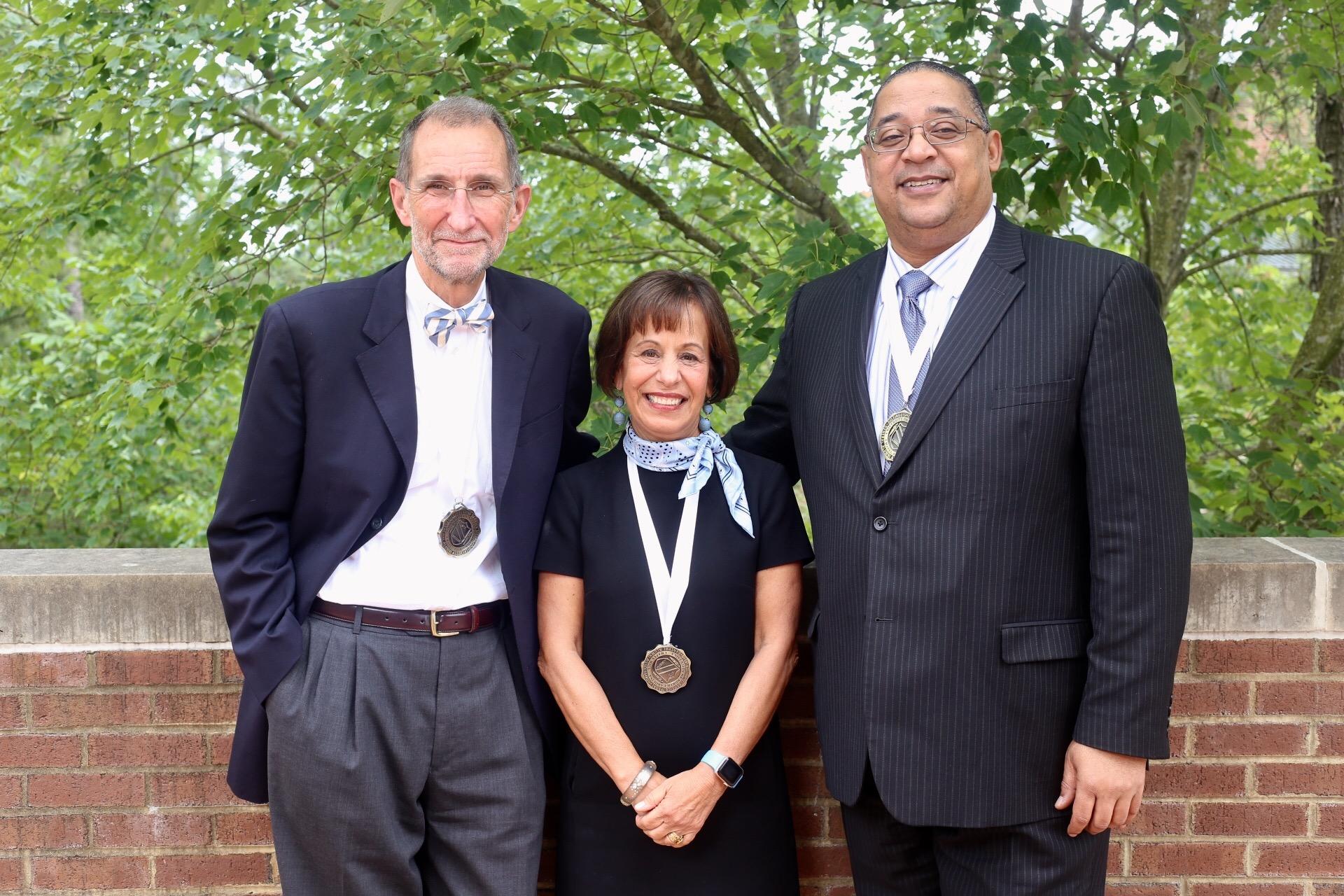 Bill Roper, Carol L. Folt and Winston Crisp