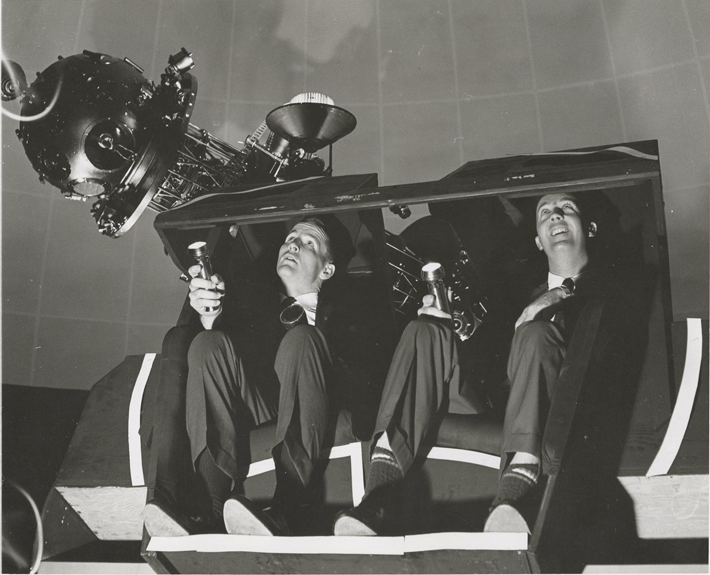 Astronauts train in Morehead Planetarium.