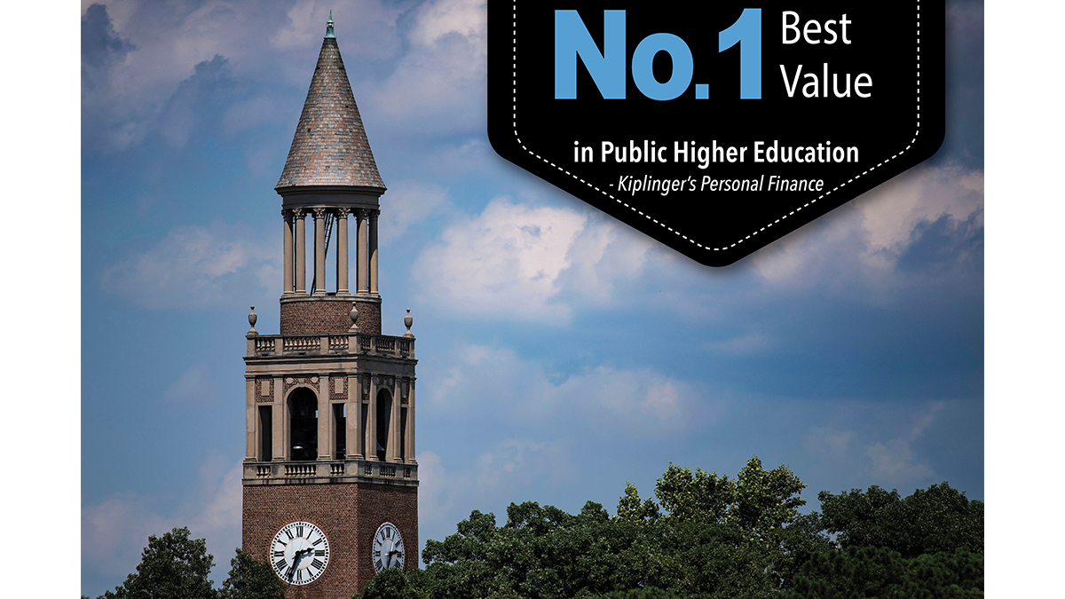 No. 1 best value in public higher education.
