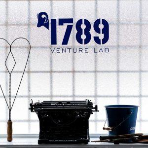 1789 written on a glass window.