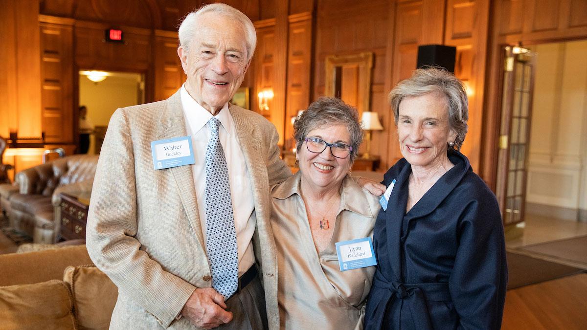 Walter Buckley, Lynn Blanchard and Marjorie Buckley
