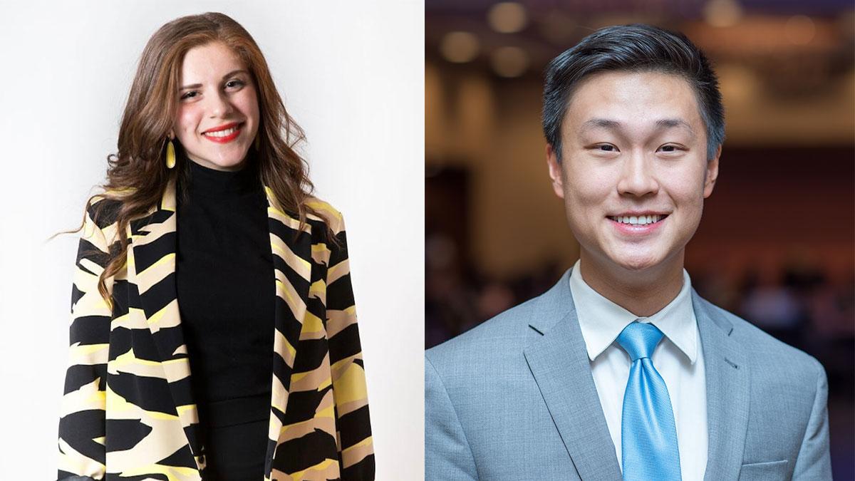 Sandy Alkoutami and Yusheng Zhang.