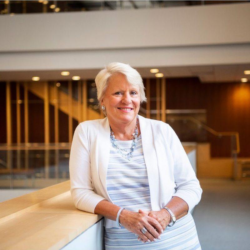 Barbara Stephenson stands in FedEx Global.