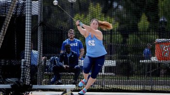 Jill Shippee doing the hammer throw