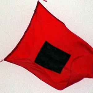 A hurricane flag.