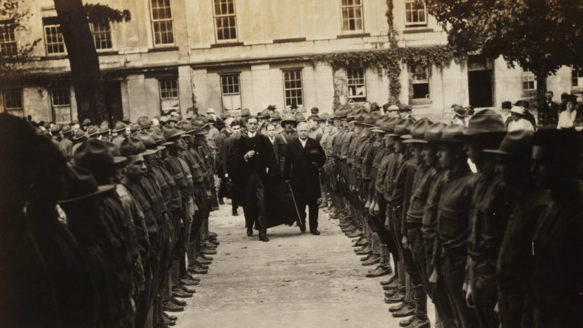 A graduation ceremony in 1917.