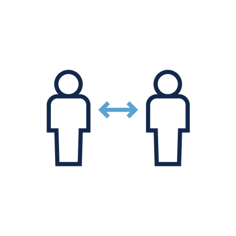 A graphic of two people standing apart.