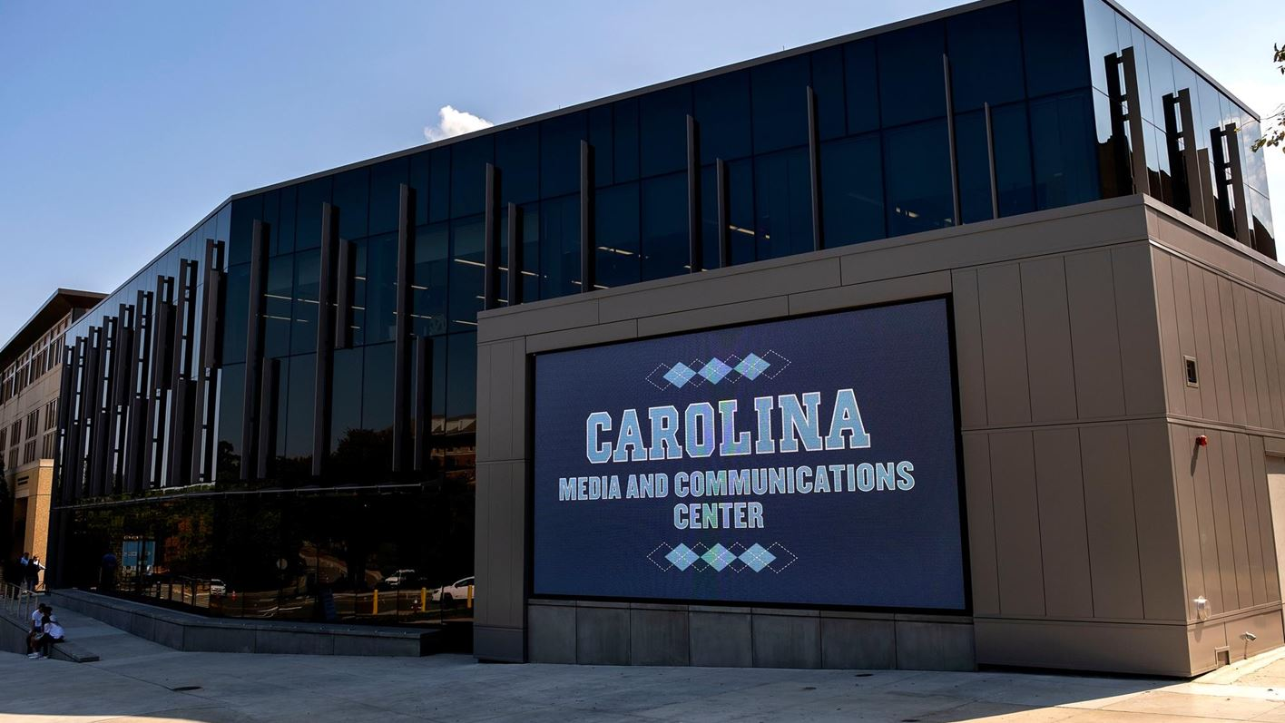 The exterior of the ACC Communications building on Carolina's campus.