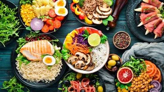 Assortment of healthy food on a table