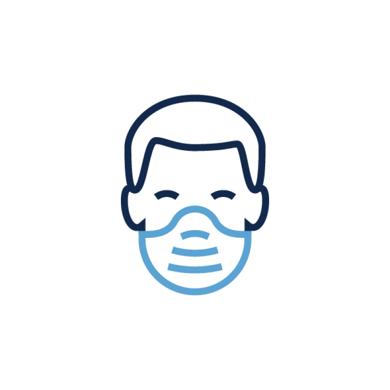A graphic of a man wearing a mask.