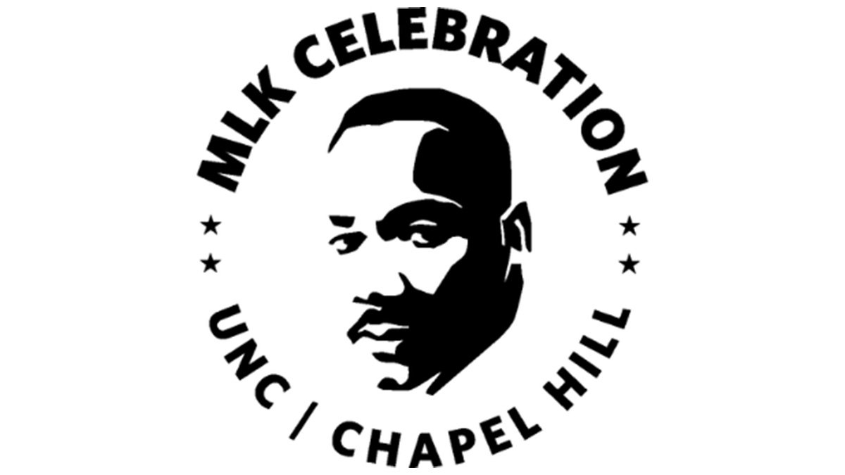 Image of MLK surrounded around the words