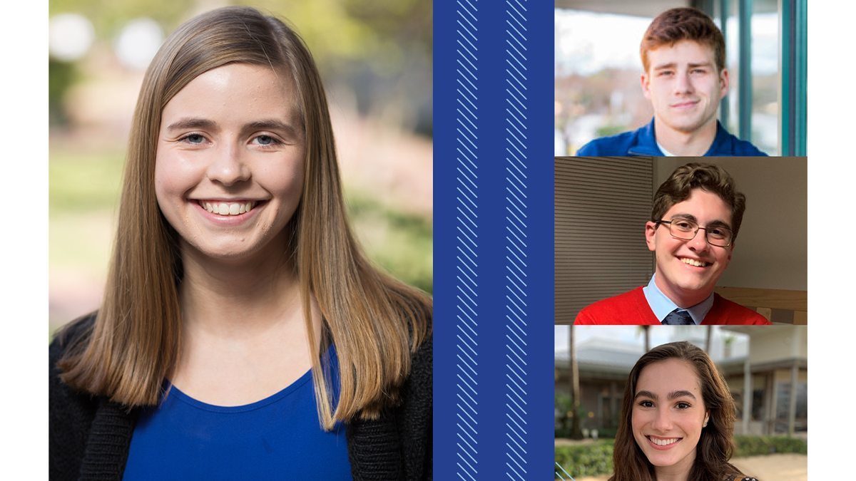 Four students from UNC Hussman