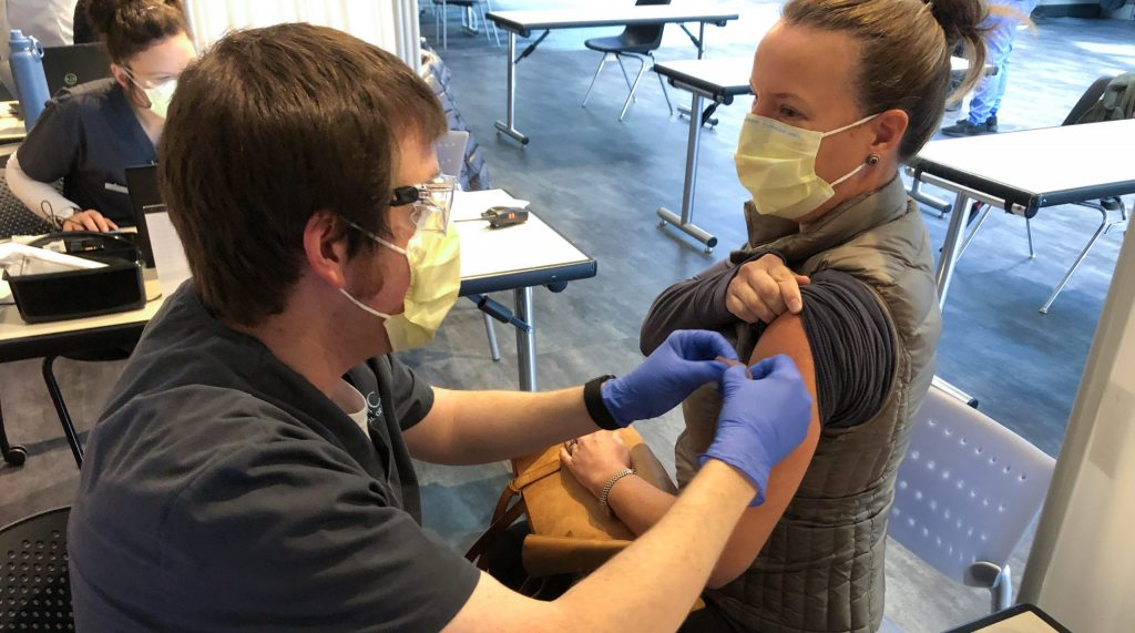 Carolina Nursing students are fighting COVID-19, one vaccine at a time