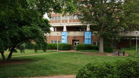 The exterior of the School of Nursing's Carrington Hall.