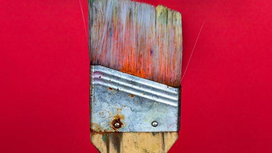 A paintbrush.