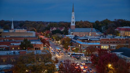 Downtown Chapel Hill at night