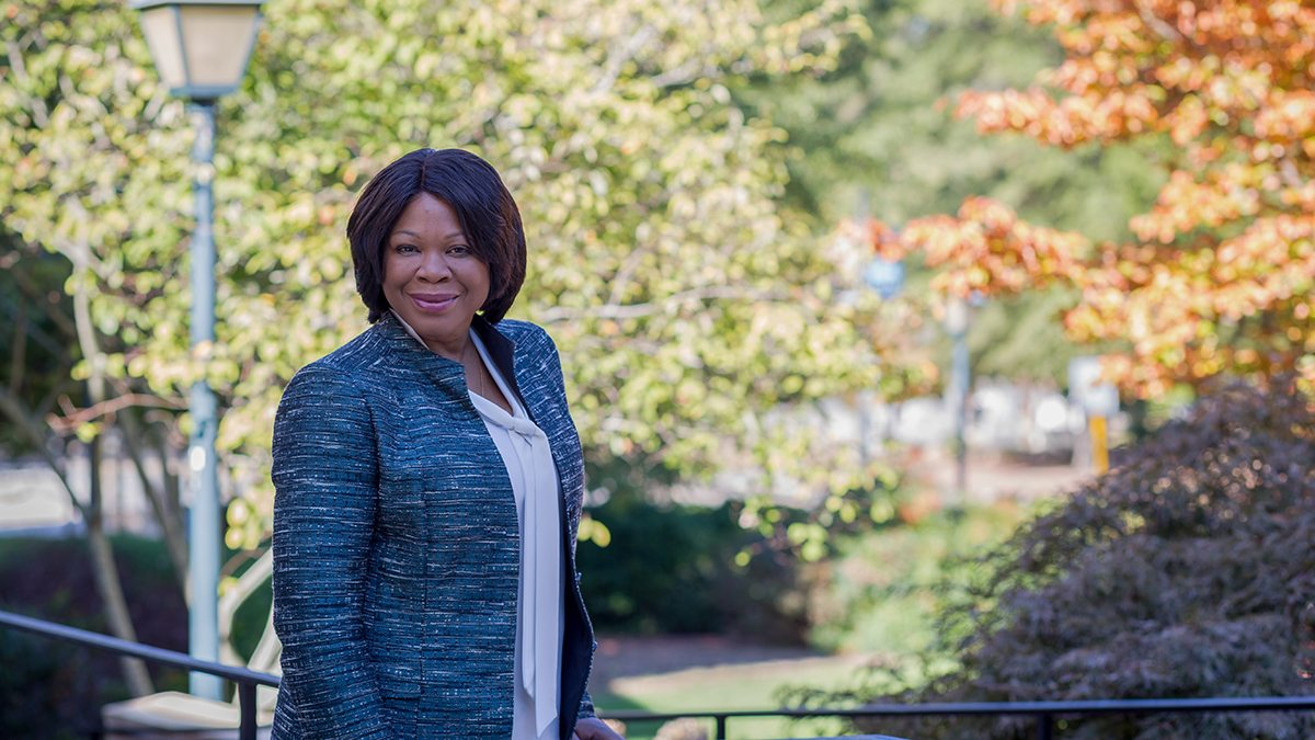 Anita Brown-Graham in front of the UNC School of Government