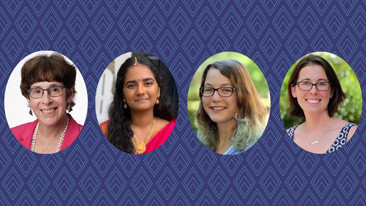 Photos of Maria J. Mangano, Vaishnavi Siripurapu, Candice Crilly and Jillian L. Dempsey.