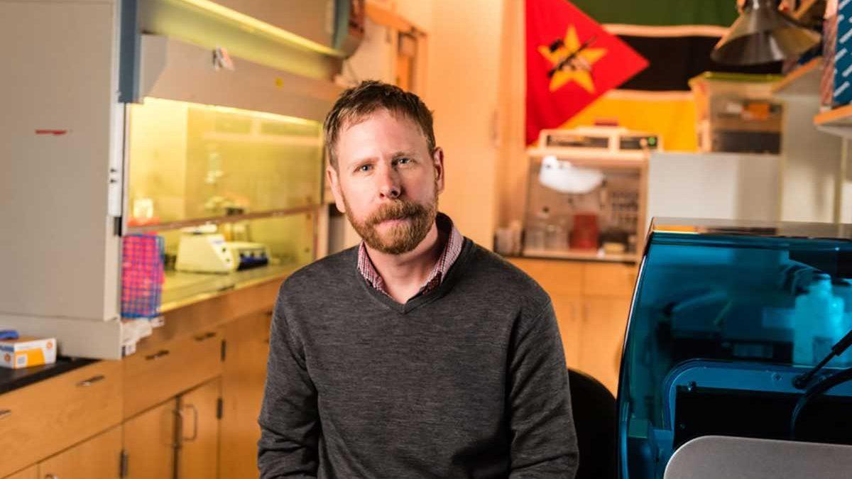 Joe Brown in his lab.