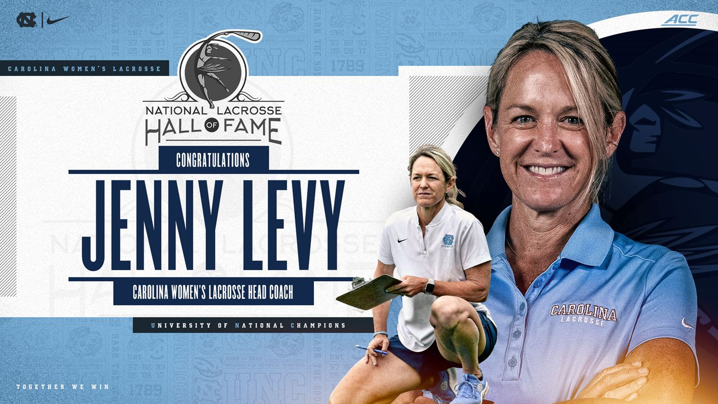 A photo of Jenny Levy coaching, with text that reads