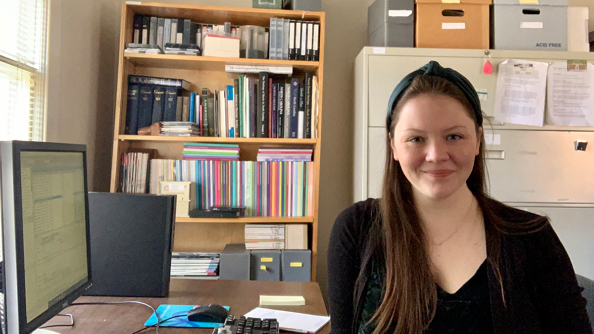Sierra Roark in her office.