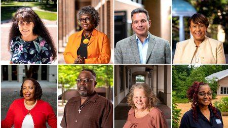 Photos of Shayna Hill, Sandra Foxx, Dr. Mario Ciocca and Sibby Anderson-Thompkins; (bottom row, left to right) Vanessa Mitchell, James Holman, Kathy James and Teresa Golson.