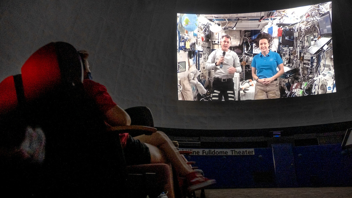 Morehead Planetarium and Science Center hosts International Space Station downlink