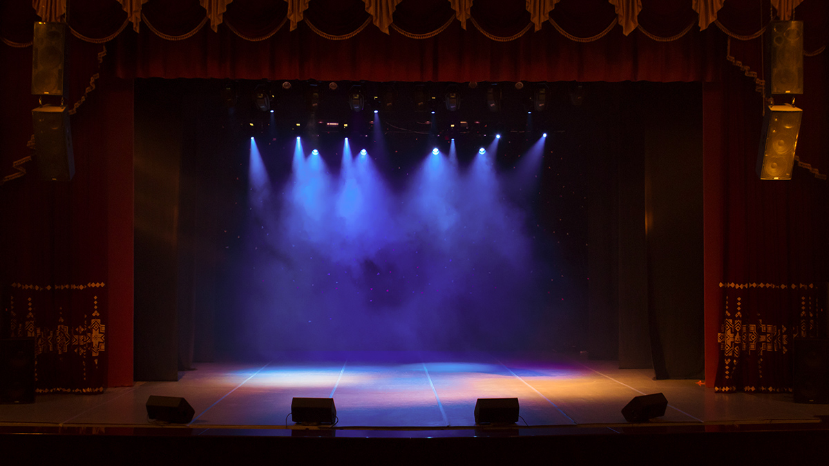 An empty stage.
