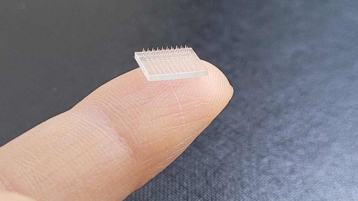 A microneedle patch.