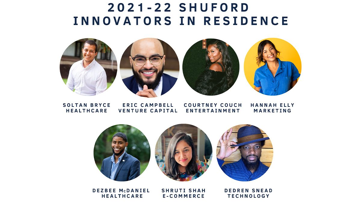 Photos of the new Shuford Innovators in Residence.